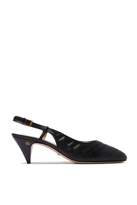 Matelassé Sling Back Heels