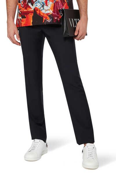 Valentino Garavani Classic Wool-Mohair Pants