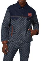 Eco washed organic denim jacket