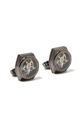 Octogonno Skull Tourbillon Cufflinks