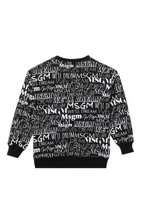 All-Over Logo Print Sweatshirt