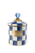 Royal Check Enamel Canister Small