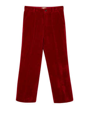 Velvet Trousers With Patch