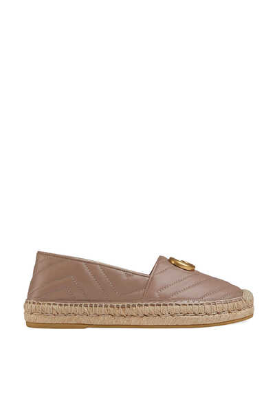 Leather Espadrilles with Double G