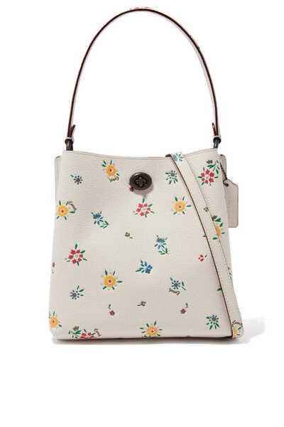 Charlie Bucket Wildflower Print Leather Bag 21