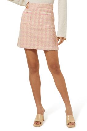 Louisa Houndstooth Mini Skirt