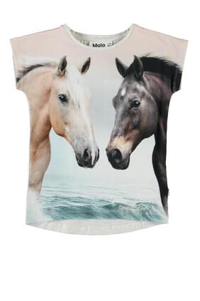 Horse Graphic Print T-shirt