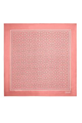 Vintage Signature Print Square Scarf