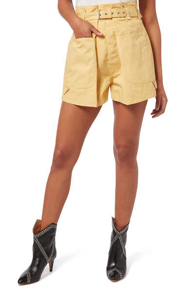 Ike Buckle Cotton Shorts