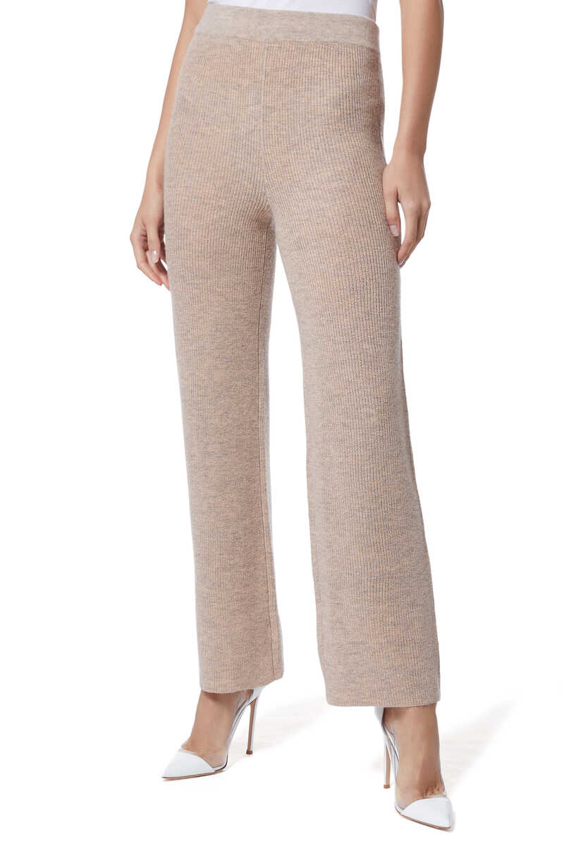 Ribbed Knit Pants image number 1