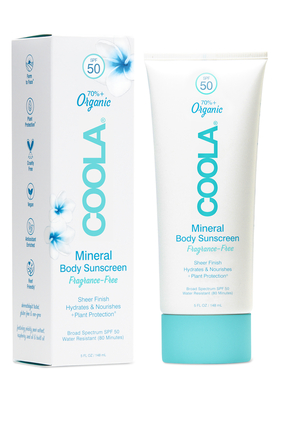 Mineral Body Organic Sunscreen Lotion SPF50 – Fragrance-Free
