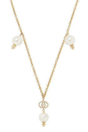 G Necklace With Pearls