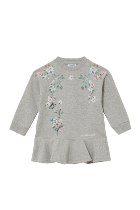 Floral Print Sweat Dress