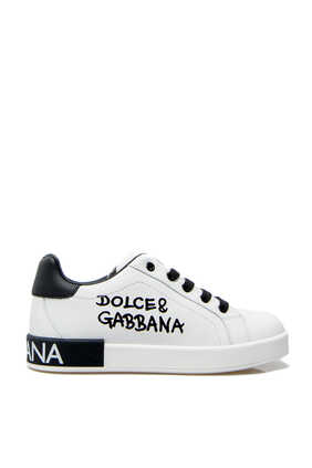 Logo Leather Sneakers