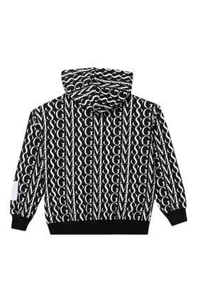 All-Over Logo Print Hoodie