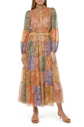 Brighton Tiered Midi Dress