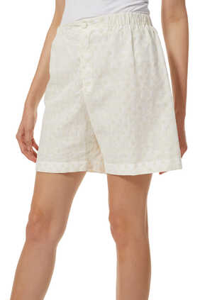 GG Embroidered Cotton Shorts