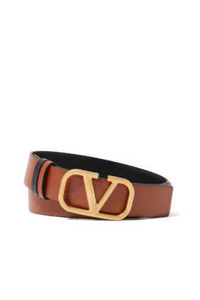 Valentino Garavani VLOGO Reversible Glossy Calfskin