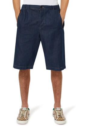 Stonewash Denim Bermuda Shorts