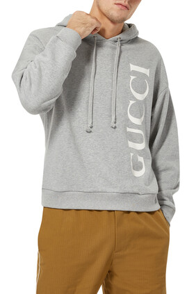Logo Felt Jersey Hooded Sweatshirt