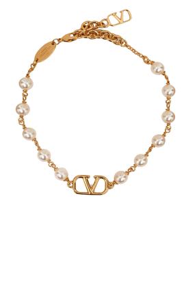 Valentino Garavani VLogo Signature Pearl Bracelet