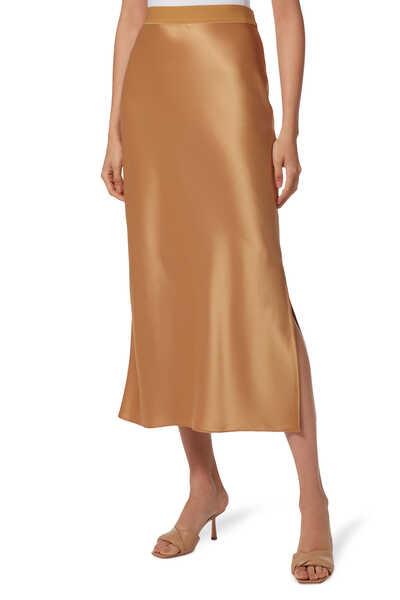 Maxi Silk Slip Skirt