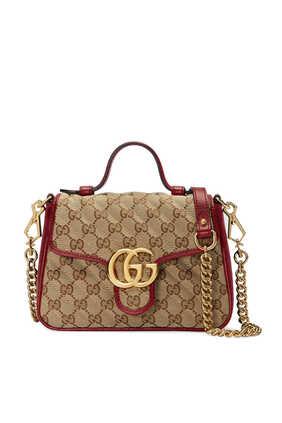 GG Marmont Leather Mini Top Handle Bag
