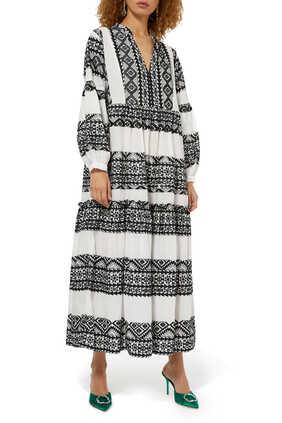 Abstract Print Midi Dress