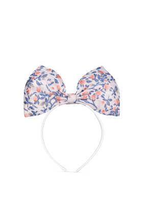 Giant Bow Floral Jacquard Headband