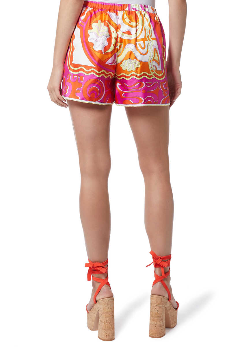 Printed Silk Shorts image number 3