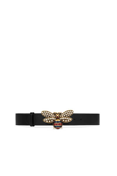 Queen Margaret Leather Belt With Large Bee