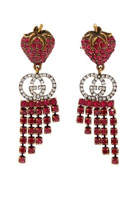 Strawberry Crystal Earrings