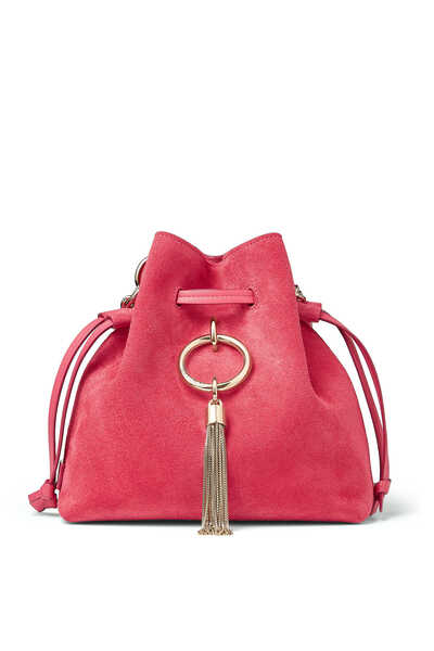 Callie Drawstring S Suede Bucket Bag