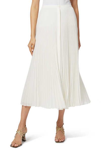 Pleated Silk Georgette Skirt