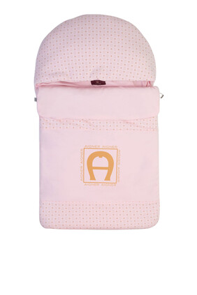 Logo Print Sleeping Blanket