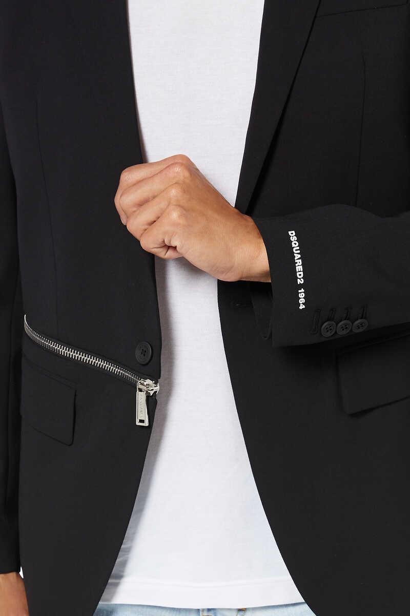 Zip Detail Slim Fit Jacket image number 3