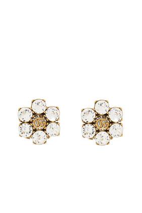Crystal Double G Earrings