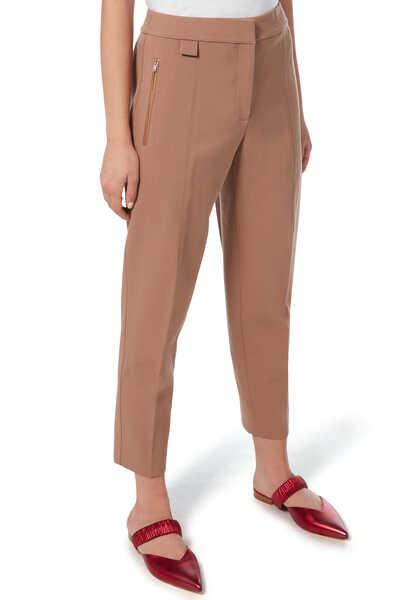 Wool Carrot Pants