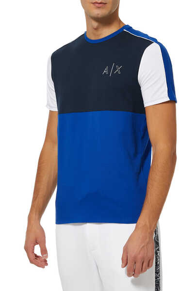 AX Contrast Piping T-Shirt