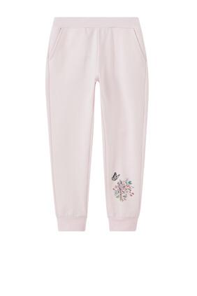 Floral Motif Sweatpants