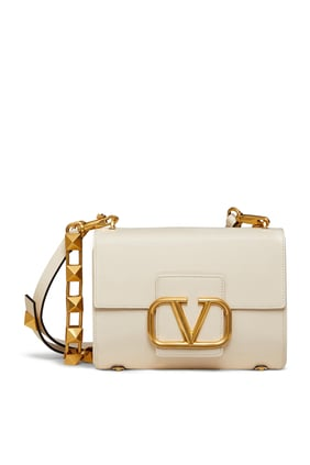 Vlogo Signature Leather Shoulder Bag