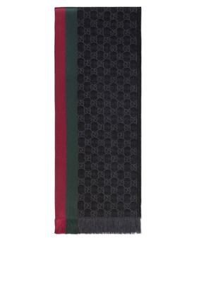 GG Wool Silk Scarf