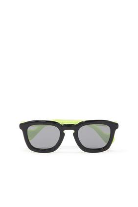 Contrasting Logo Sunglasses