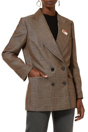 Jacquard Tailored Jacket
