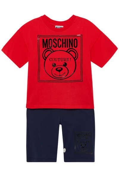 T-Shirt & Shorts Bear Logo Set