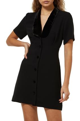 Helena V-Neck Miini Dress