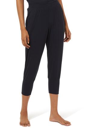 Yoga Cropped Jersey Pants