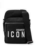 Icon-Print Messenger Bag