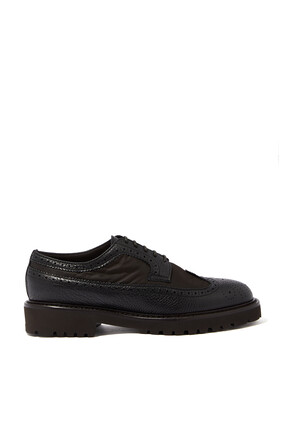 Phil Leather And Nylon Brogues
