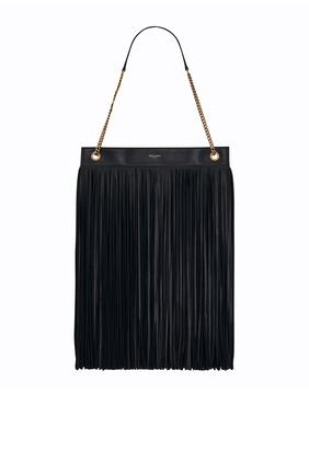 Grace Large Fringed Hobo Bag